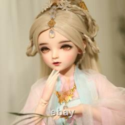 1/3 BJD Doll 60cm Ball Jointed Body with Ancient Dress Clothes Full Set Xmas Toy