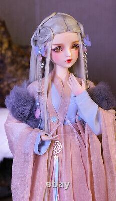 1/3 BJD Doll 60cm Girl Toys + Changeable Eyes + Wigs + Clothes Full Set Pretty