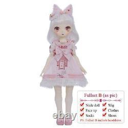 15'' Little Angel 1/4 BJD Doll Cute Nanako Fullset Resin Toy Kid Anime DIY Gift