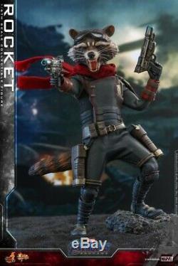 16 Scale Hot Toys Avengers Endgame Rocket Action Figure MMS548 Full Set Gift