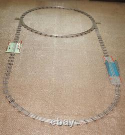 1960' Soviet Russian Tin Toy Moskabel 0 Scale Train Set Full Tracks Circle Bride