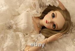 60cm 1/3 BJD Ball Jointed Doll Bride Wedding Dress Face Makeup Full Set Xmas Toy