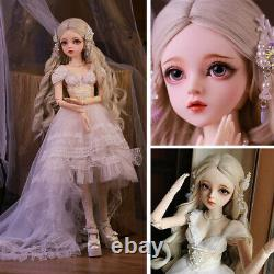 60cm 1/3 BJD Doll Girl + Removable Eyes + Face Makeup + Wigs Full Set Outfit Toy