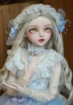 60cm 1/3 Ball Jointed BJD Girl Doll Clothes Full Set Outfit Free Fcae Makeup Toy