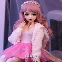 60cm 1/3 Ball Jointed Girl BJD Doll with Full Set Outfit Clothes Shoes Gift Toy