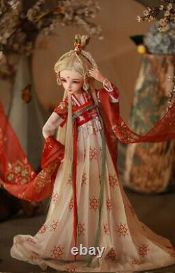 60cm BJD Doll 1/3 Ball Jointed Female Body with Full Set Clothes Outfit Kids Toy