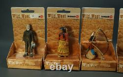 8 Schleich Toy Wild West Sioux Indian Native American Diorama Full Set Figurines