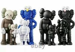 BE@RBRICK Medicom Toy KAWS FAMILY BROWN/BLUE/WHITE & BLACK FULL SET