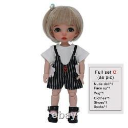 BJD Baby Doll Nude MSD Resin DIY Toys Full-Set Figurine Girls Present Kids Gifts