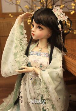 BJD Doll 1/3 Ball Jointed Girl Dolls Free Face Makeup Wig Clothes Toy Full Set