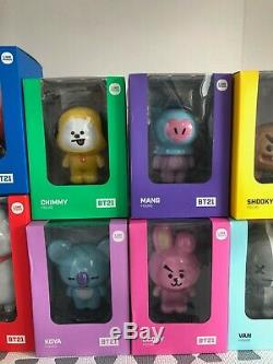 BTS BT21 Official Toy Figure Large by LINE FRIENDS FULL SET 8 Figures