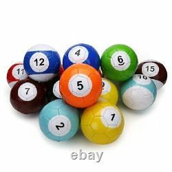 Billiard Snook Soccer Ball Football Full Set Snooker Street Game Sport Toy Sz2