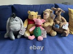 Disney Store Live Action Christopher Robin Plush Toys Full Set, Mint Condition