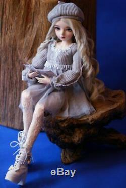 Full Set 60cm BJD Doll 1/3 Fashion Girl + Moveable Eyes Wigs Sweater Clothes Toy