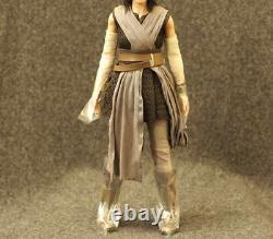Full Set Custom Head Flocking Ray Hot Toys 1/6 Star Wars Ep8 The Last Jedi