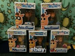 Funko Pop Toys R Us Geoffrey Full Set Superman Iron & Batman Golden Ticket Flock