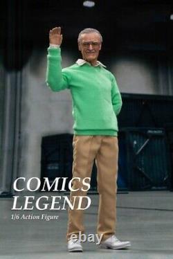 Hot Toys 1/6 Scale Full Set COMICS STAN LEE 12in Action Figure HERO LEGEND