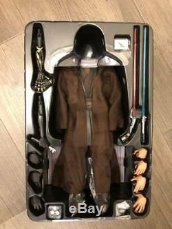Hot Toys 1/6 Star Wars EP3 Head Figure Anakin Skywalker Flocked Custom Full Set