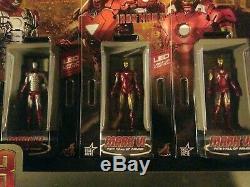 Hot Toys Iron Man 3 Miniature Figure Hall Of Armor Full Set of 7 BRAND NEW