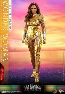 Hot Toys MMS578 1/6 Wonder Woman Golden Armor Deluxe Ver. Full Set Figure Toy
