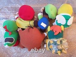 Japan Banpresto SUPER MARIO WORLD Full Set of 11 Plush Toys 1991/1992 Nintendo