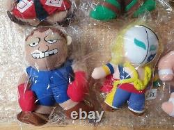 Japan Capcom STREET FIGHTER II Full Set of 12 Plush Toys 1990s SF2