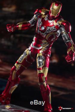 King Arts DFS009 1/9th Iron Man MK43 Diecast Figure Full Set Toy