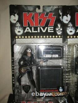 Kiss Alive Full Band Set Action Figures NIB McFarlane Toys Ace Gene Paul Peter