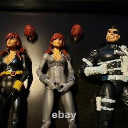 Marvel Legends shield agent Team Set of 5 Figures Lot toy biz hasbro