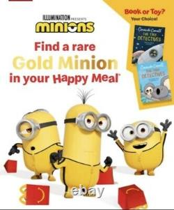 McDonalds Happy Meal Toy Characters Minions 2021 Inc RARE GOLD-Combine Postage