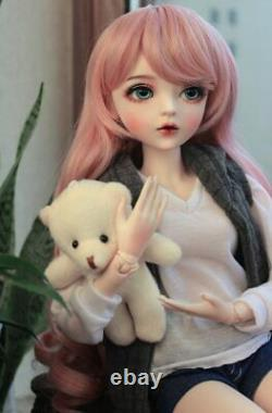 NEW 60cm 1/3 Ball Jointed BJD Doll Girl With Full Set Outfit Removable Eyes Toys