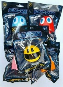 Official Pacman Squishy Stress Toys Full Set Of 5 Bandai Namco Arcade Europe New