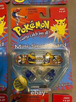 Pokemon hasbro vintage toys giochi preziosi mini snowboard FULL SET x concept