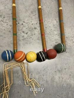 RARE FULL SET Vintage Antique Sears And Roebuck Lawn Play Toy Vintage Croquet