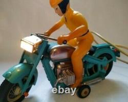 RARE TOY 1960's SOVIET USSR Tin MOTORCYCLE Biker COPY JAPAN VGC FULL SET! BOX