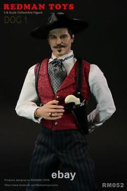 REDMAM TOYS RM052 1/6 The Cowboy Doc Holliday Val Kilmer Full Set Figure Toys