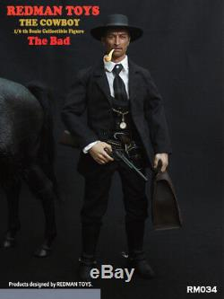 REDMAN TOYS RM034 The Cowboy The Bad 1/6 Scale Full Sets Male Figure Collectible