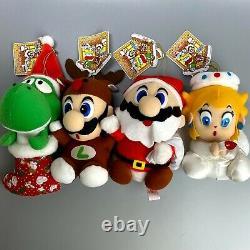 Rare 1993 Super Mario World Christmas set Full Nintendo Plush doll toy Banpresto