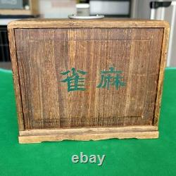 Rare Tile Game Antique Mah Jong Tiles Full Set Used Vintage Toy Fast Shipping