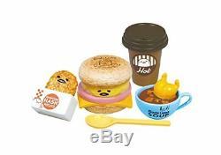 Re-ment Sanrio Gudetama Burger Shop miniature toy 8pc Full set from Japan