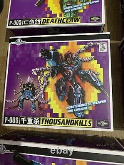 TFC Toys Poseidon (Transformers G1 Seacons) Full Set
