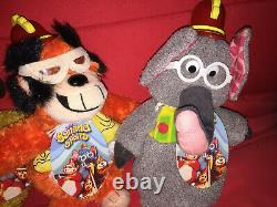 THE BANANA SPLITS SOFT TOYS COMPLETE FULL SET WITH TAGS PLUSH x4