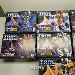 TRNS TETRA SQUADRON FULL SET OF 7 JETS CYBERTRON MODE by IMPOSSIBLE TOYS A2