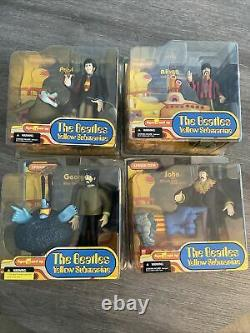The Beatles Yellow Submarine Action Figures All 4 Full Set McFarlane Toys