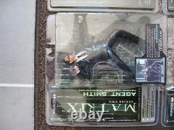 The Matrix, Reloaded & Revolutions Full Set + Spare Trinity (McFarlane Toys)