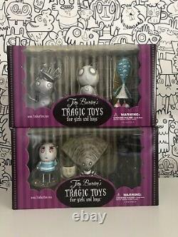 Tim Burtons Tragic Toys- Full Set Of 12 Vinyl Figures