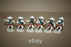 Timpo Toys 6 Wild West Mexikaner weiß / Mexicans complete white full Set