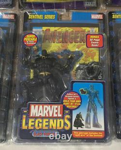 Toy Biz Marvel Legends Sentinel Series COMPLETE SET INCLUDING VARIANTS