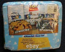 Toy Story Rare 1995 4 PIiece FULL SHEET Set