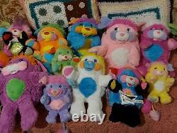 Vintage Popples Full Set Plush Job Lot 80s Soft Toy Popple Bundle Retro Rare